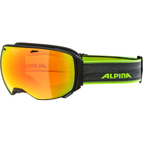 Alpina Big Horn MM Goggles black matt red spherical